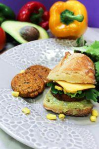 sandwich médaillon vegetarien