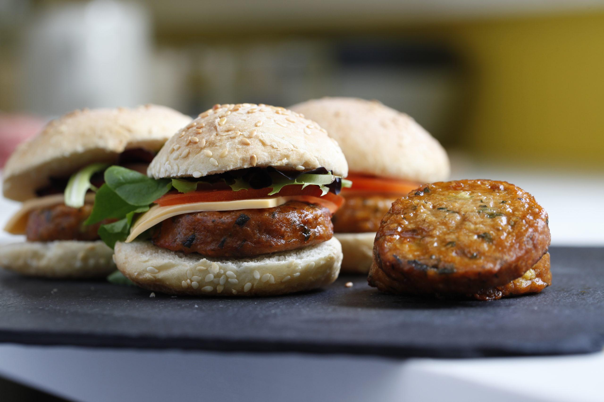 burger apéritif végétarien